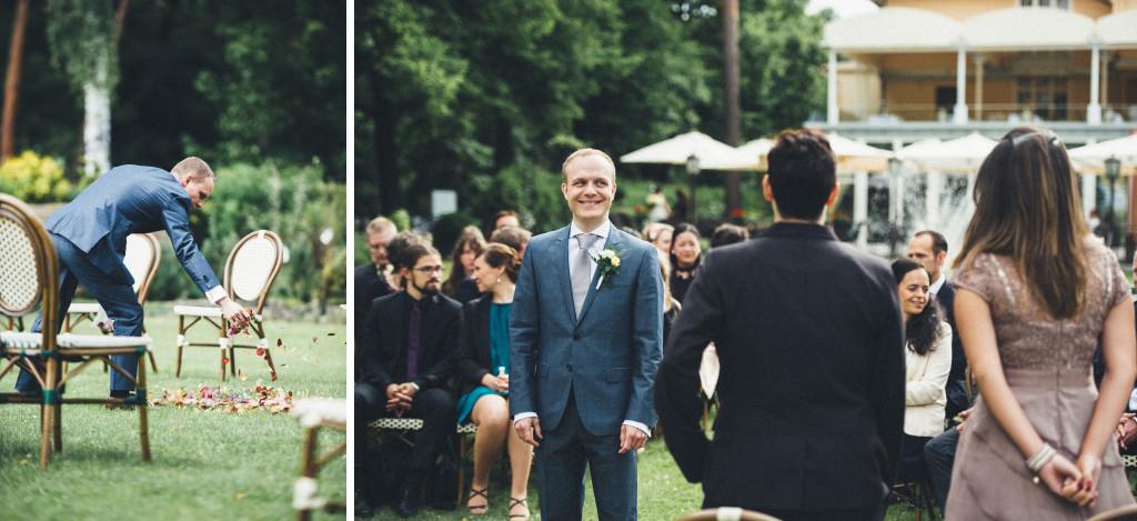 13 Hochzeitsfotograf Berlin Trauung im Freien Rosenblüten