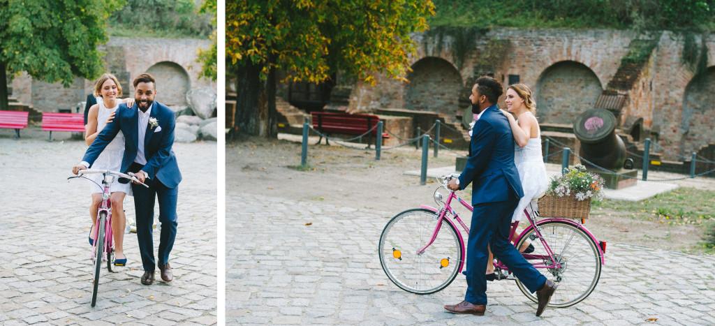 Hochzeitsfotograf Berlin Fahrrad