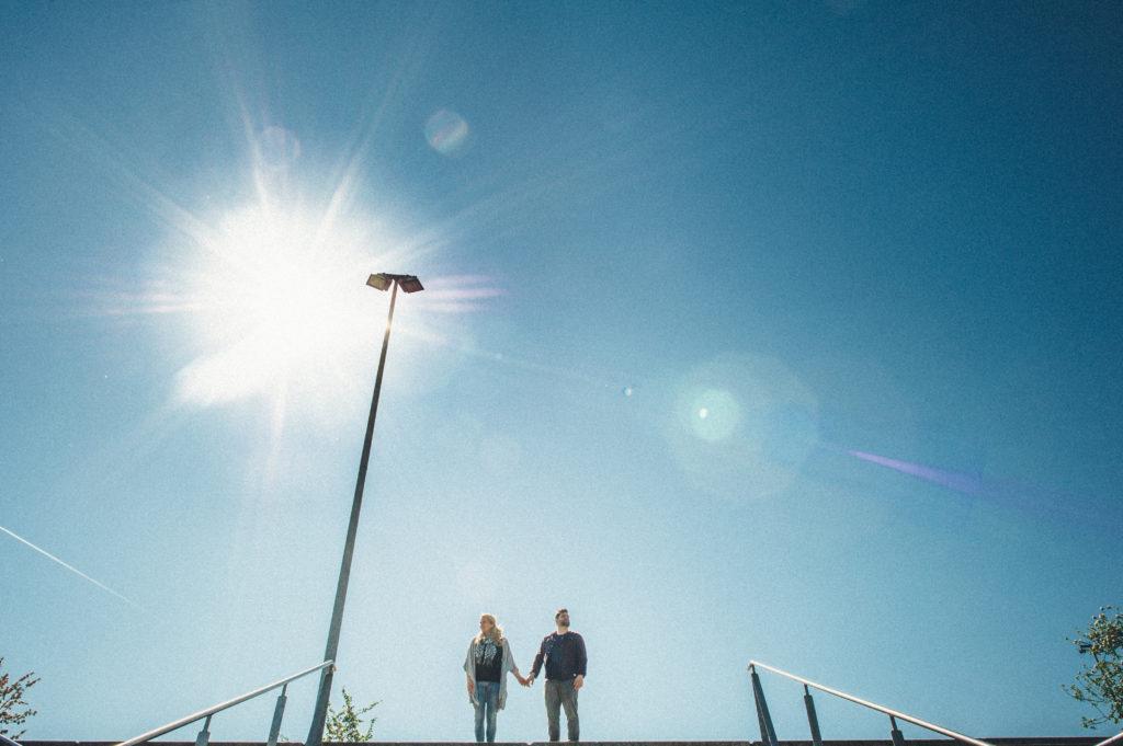 Paarshooting Berlin Portrait in die Sonne